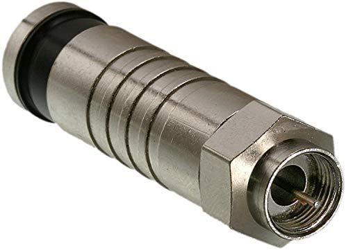 F Compression Connector,  Male,  75 Ohm  - (0411-11CS)