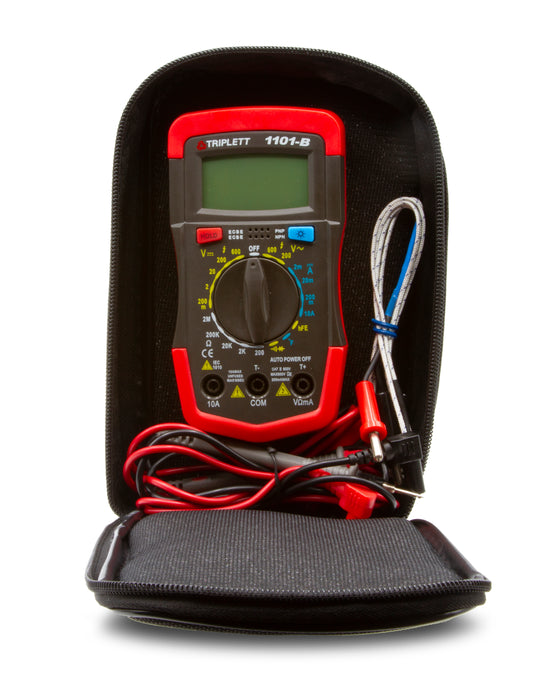 Universal Case Fits Standard or Compact Sized Multimeters and Clamp-Ons with Test Leads
