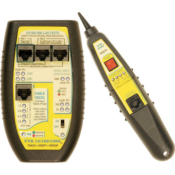 LAN Tester with Remote Probe for Hubs, Switches, PCs, and Cables - (TVR10/10/100)