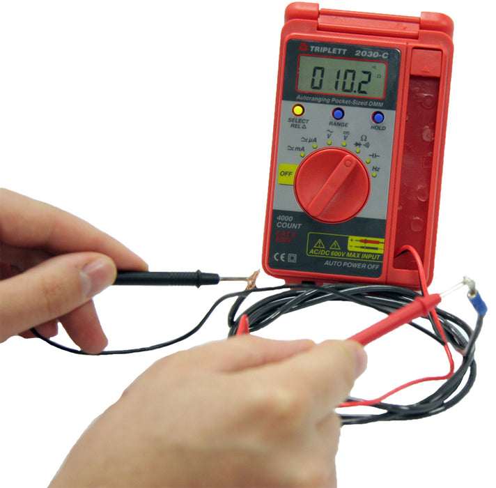 3 ¼ Digit 4000 Count Pocket Digital Multimeter: CAT II 600V - (2030-C)