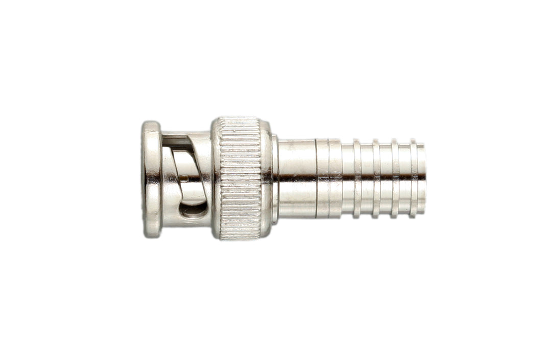 BNC Uni-Crimp Connector,  Male,  75 Ohm,  10 Pack - (301-75-2TP)