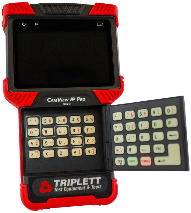 CamView IP Pro™ IP-Analog Security Camera Tester: H.264 IP, NTSC/PAL, AHD 1.0, HD-TVI 2.0  - (8070)