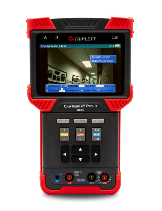 CamView IP Pro- D™ IP and Analog Security Camera Tester: H.265, AHD 2.0, HD-TVI 3.0, HD-CVI 3.0, and NTSC/PAL - (8073)