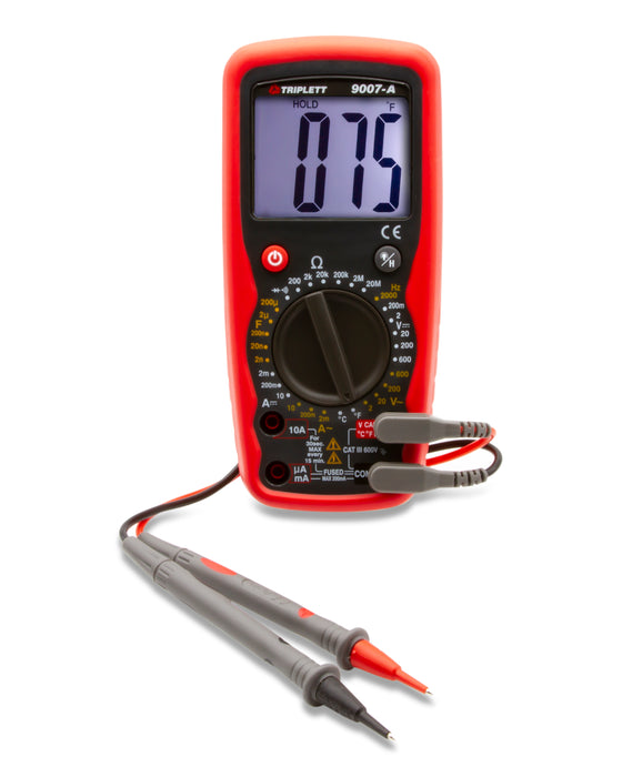 3 ½ Digit 2,000 Count Industrial Digital Multimeter: CAT III 600V - (9007A)