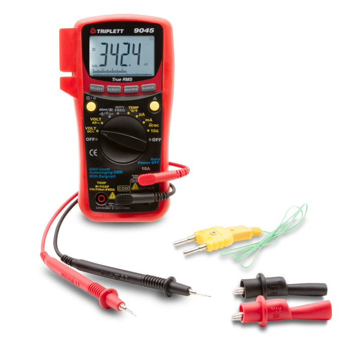 3 ¾ Digit 6000 Count Digital Multimeter: True RMS CAT III 600V - (9045)