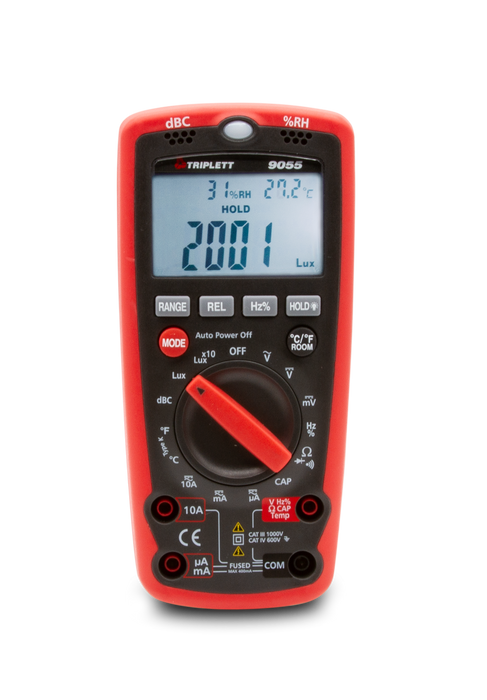 3 ¾ Digit 4000 Count 6-in-1 Digital Multimeter CAT IV 600V - (9055)