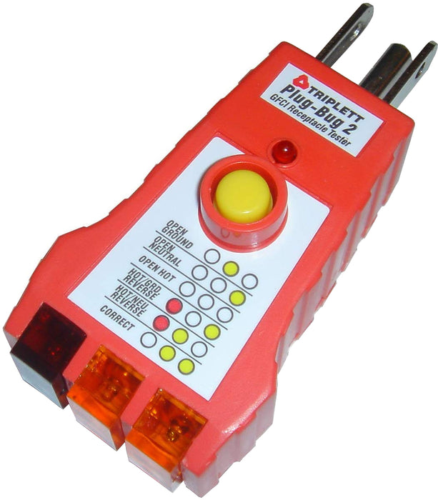 Plug Bug 2™  GFCI Tester: Tests 3-Wire 110-125 VAC Receptacles- (9610)