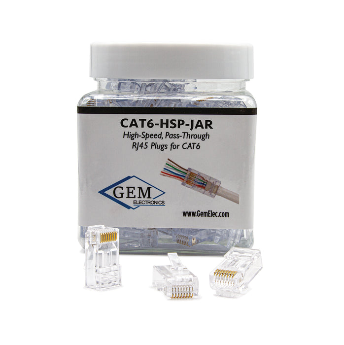 CAT5/6 Connector,  Male,  50 Pack - (CAT5-HSP)