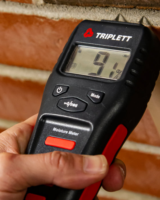 Pin & Pinless Moisture Meter with Audible Indicator: Wood & Building Materials : 1.5 to 50%. Pinless: 6 to 99.9% - (MS150)