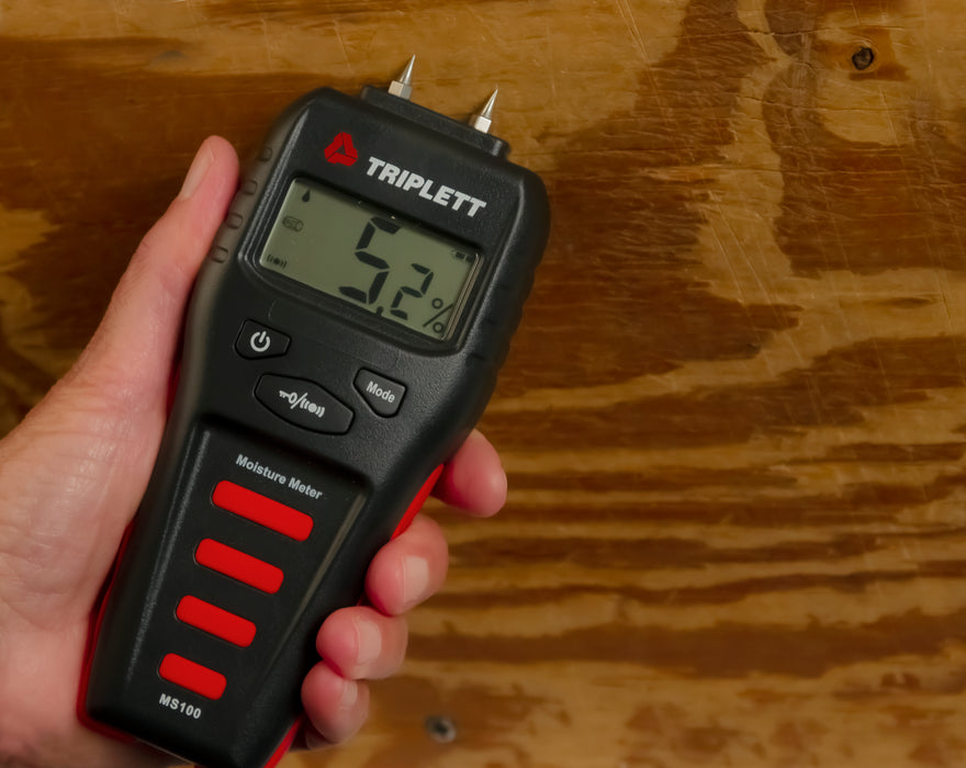 Pin Moisture Meter with Audible Indicator: Wood & Building Materials : 1.5 to 50% - (MS100)