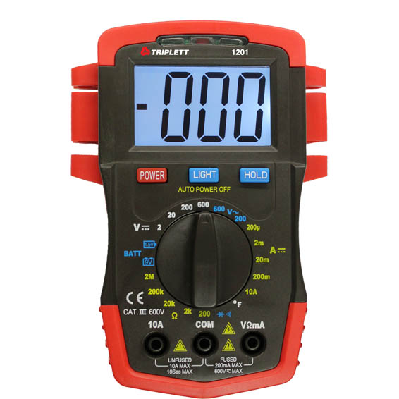3 ½ Digit 1999 Count Compact Digital Multimeter: CAT III 600V- (1201)