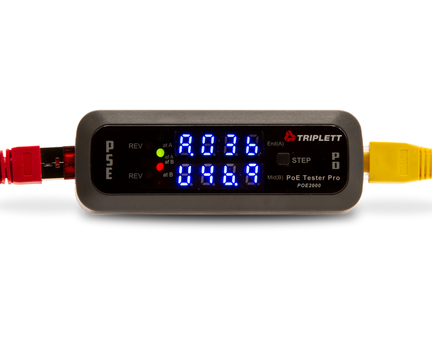 PoE Tester Pro™ : Inline Power Over Ethernet Detector Detects PSE-Type/Class, Power Source and More - (POE2000)