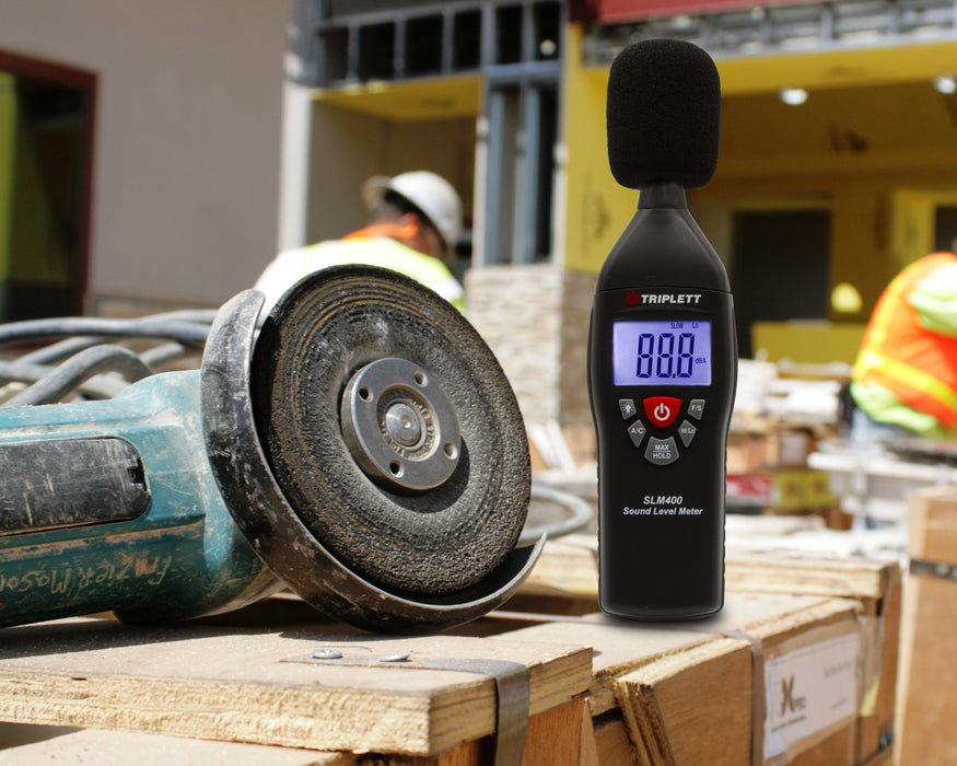 Sound Level Meter & Calibrator Kit : Test and Verify Sound Levels 35 to 130dB Over Two Ranges - Selectable Fast/Slow Response Time - (SLM400-KIT)
