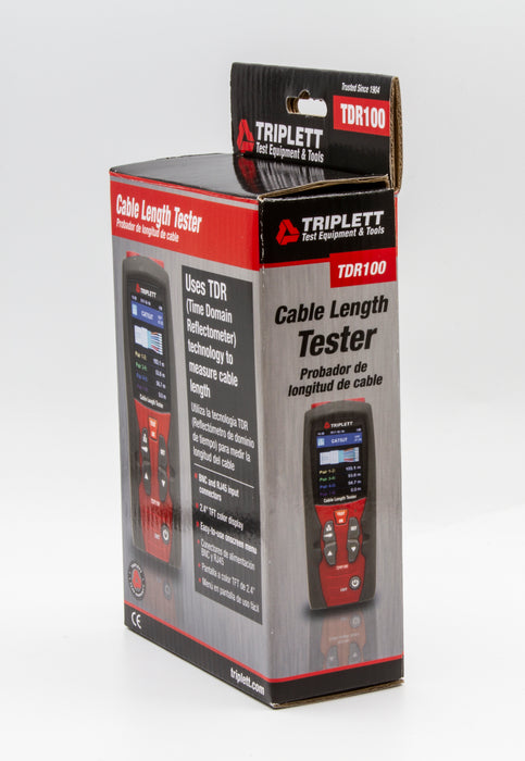 Precision Cable Length Tester: Uses Time Domain Reflectometer Technology, 20 Built In VOPs - (TDR100)