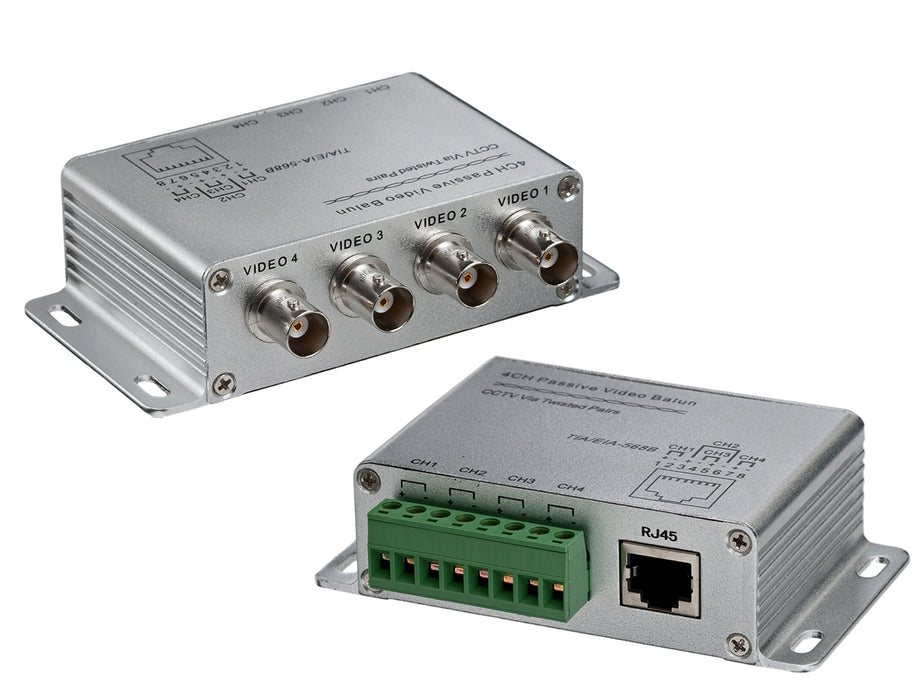 CCTV 8 Channel Passive Transceiver Box, BNC Female to RJ45 or Screw Terminal - (TRB-8BNCSTRJ45)