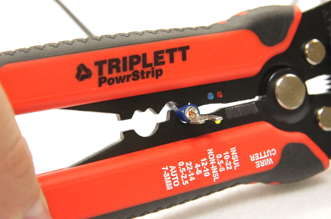 Automatic Wire Stripper -Strips Wire from 8 - 30 AWG, Crimps Insulated & Non-Insulated Terminals, Built-In Wire Cutter - (TT-240)