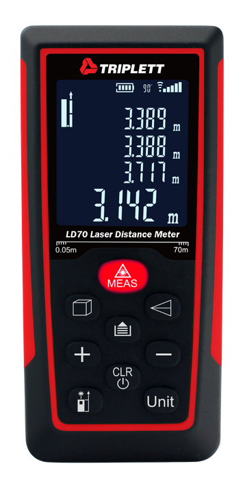 "Laser Distance Meter: Measures Distance From 2"" to 230' - (LD70)"