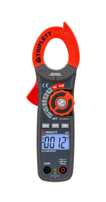 4000 Count 400A AC Digital Clamp-On Meter: CATIII 600V - (9305)