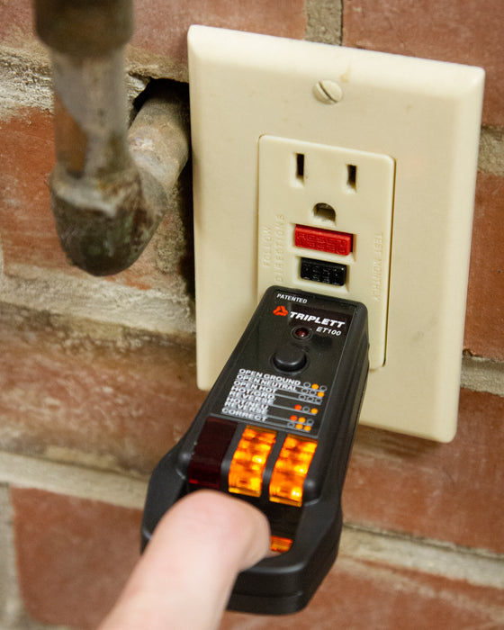 Commercial and Residential GFCI Receptacle Tester : Tests 3-Wire Receptacles- (ET100)