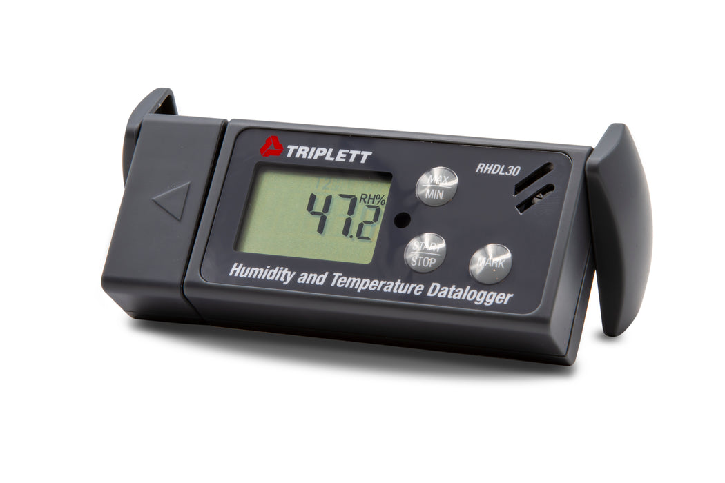Temperature & Humidity USB-PDF Datalogger - Records 24,000 Readings, 6 Languages , Download Data in PDF, Graph or Excel - (RHDL30)