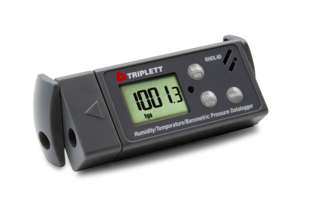 Temperature, Humidity, & Barometric Pressure USB-PDF Datalogger - Records 16,000 Readings, 6 Languages , Download Data in PDF, Graph or Excel - (RHDL40)