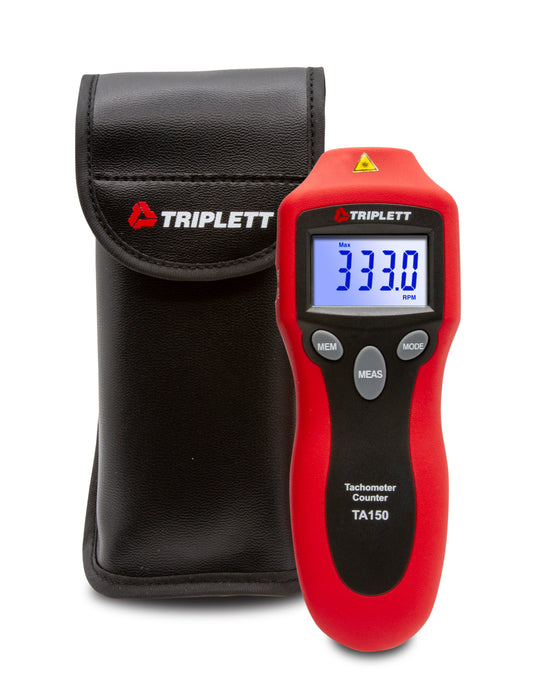 Laser Photo Tachometer: Provides Fast and Accurate Non-Contact RPM of Rotating Objects and Count (REV) Measurements- (TA150)