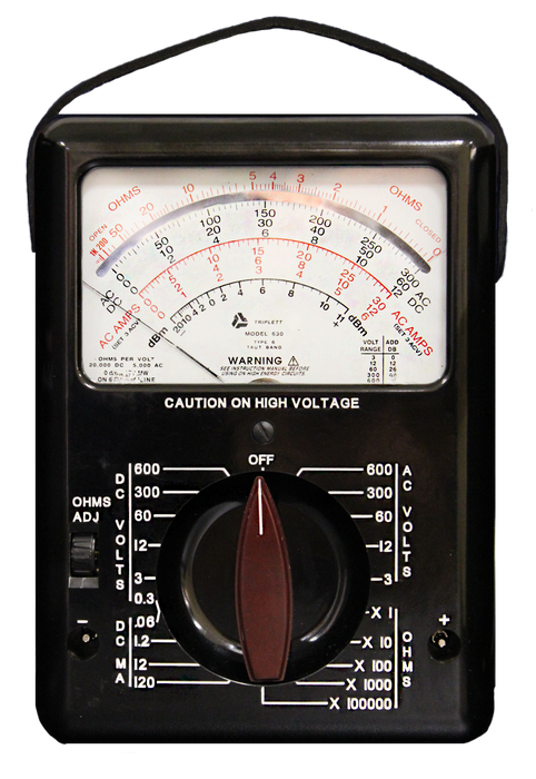 Model 630 Analog Multimeter with Chemical Resistant Glass Meter Window : 28 Ranges, AC/DC Voltage to 600V - (3030)