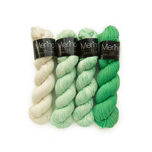 MERINO THE COLLECTION GRAS (5088) - Mayflower, Handgefärbt,100 % Reine Merinowolle Superwash