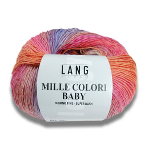 MILLE COLORI BABY - Lang Yarns | 190/50|100% Schurwolle (Merino fine)  Superwash
