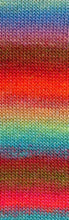 Laden Sie das Bild in den Galerie-Viewer, MILLE-COLORI-SOCKS-&-LACE-LUXE 859.0051 (BUNT HELLBLAU/ROT/BRAUN)