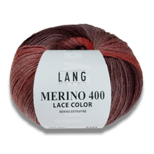Laden Sie das Bild in den Galerie-Viewer, MERINO 400 LACE COLOR - Lang Yarns | 375/50|100% Schurwolle (Merino extrafine - mulesing free)