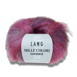 MILLE COLORI SUPERKID - Lang Yarns | 175/25|75% Mohair (Superkid)  20% Polyamid  5% Wolle (Merino extrafine)