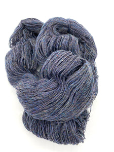 "Dundaga ""wie Tweed"" 6/1, Farbe Blau - 100% Schafwolle, ""Eco - friendly"" Wolle"