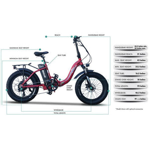 Emojo Ram Sport 750 Step-Thru, Powerful, Electric Bike 750W, 48V