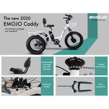 Load image into Gallery viewer, Electric Bike - Emojo Caddy Pro Electric Trike 48V 500W