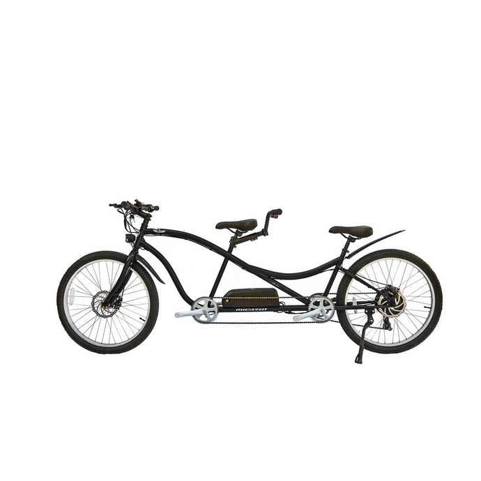 Electric Bike - Micargi Aloha Tandem Electric Bike - 500W, 48V - BLACK