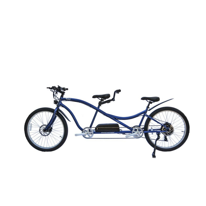 Electric Bike - Micargi Aloha Tandem Electric Bike - 500W, 48V - BLUE