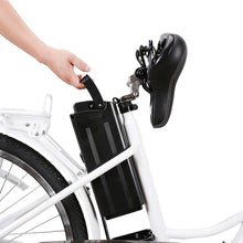 "Load image into Gallery viewer, Electric Bike - Nakto Camel Step-Thru 26"" City Electric Bike - WHITE"