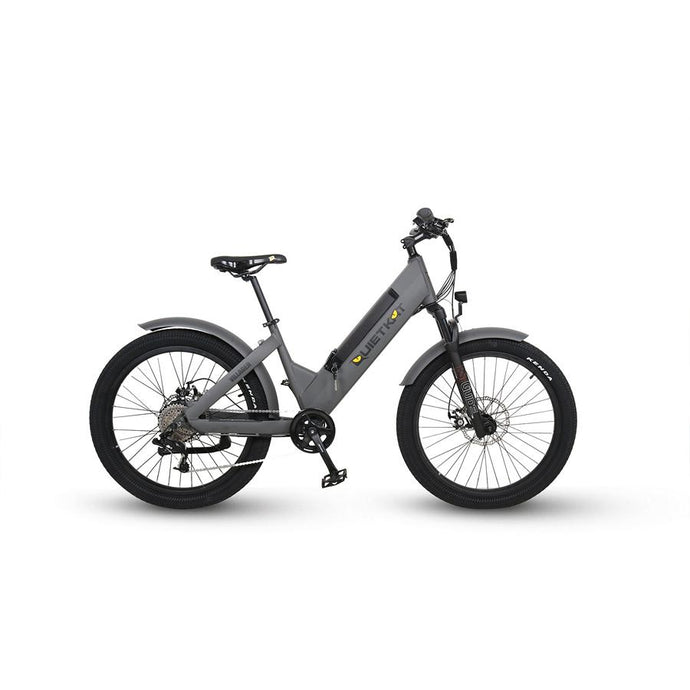 Electric Bike - QuietKat Villager Commuter E-Bike 500W, 48V 11.6 Ah - CHARCOAL