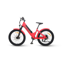 Load image into Gallery viewer, Electric Bike - QuietKat Villager Commuter E-Bike 500W, 48V 11.6 Ah - RED