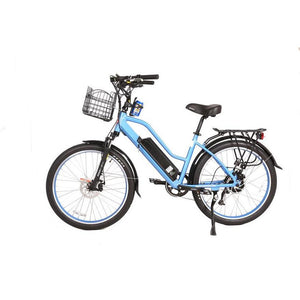 Electric Bike - X-Treme Catalina High-End Step-Thru Beach Cruiser Electric Bike 48V 500W - BABY BLUE