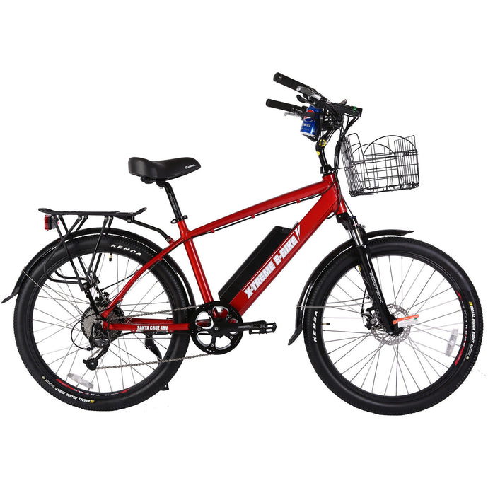 Electric Bike - X-Treme Laguna Beach Cruiser Electric Bike 48V 500W - RED