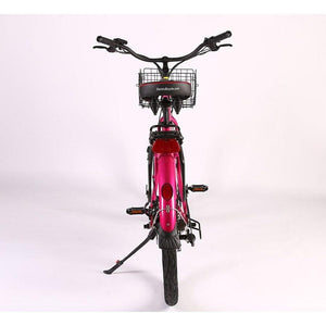 Electric Bike - X-treme Malibu Elite Max Beach Cruiser Step Through Electric Bike 36V 350W - PINK