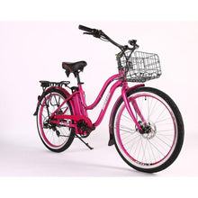 Load image into Gallery viewer, Electric Bike - X-treme Malibu Elite Max Beach Cruiser Step Through Electric Bike 36V 350W - PINK