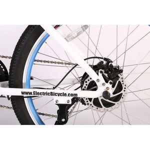 Electric Bike - X-Treme Sedona Step-Through Mountain Electric Bike 48V 500W - WHITE