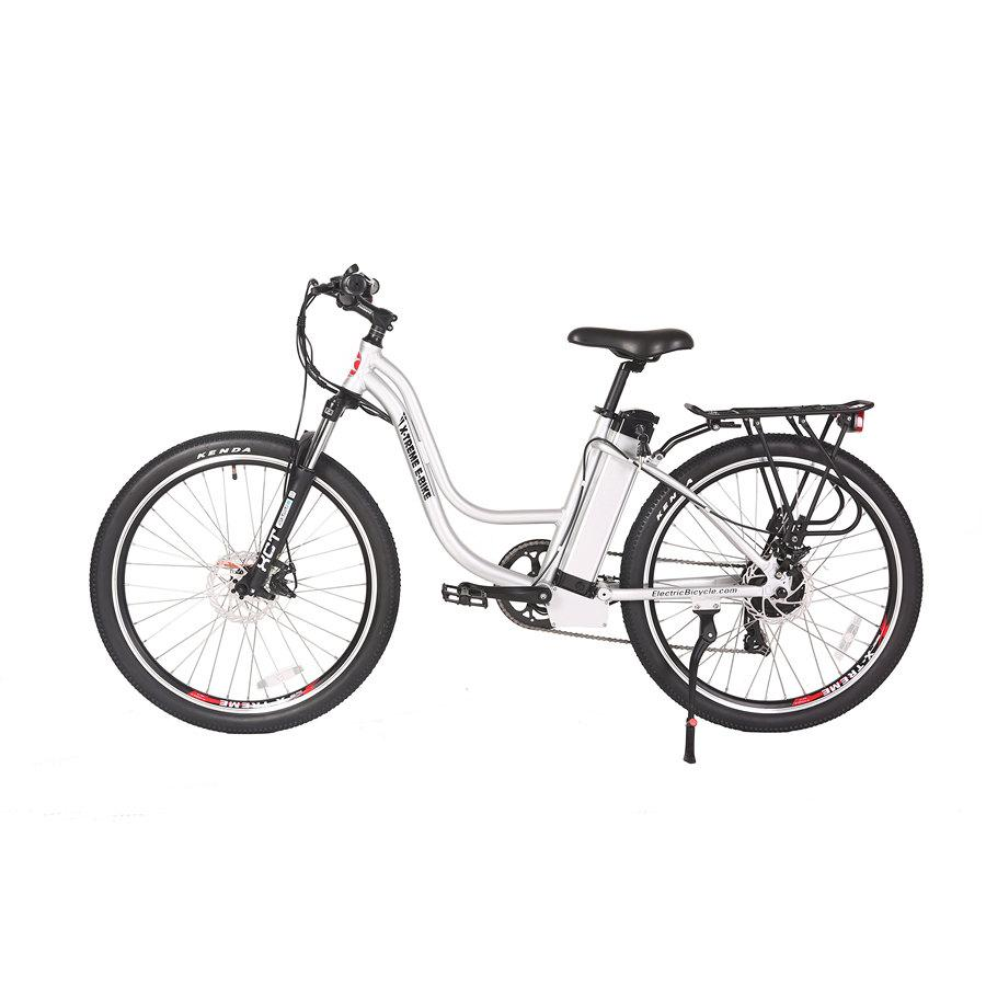 Electric Bike - X-Treme Trail Climber Elite Step Through Electric Bicycle - 24 Volt - ALUMINUM