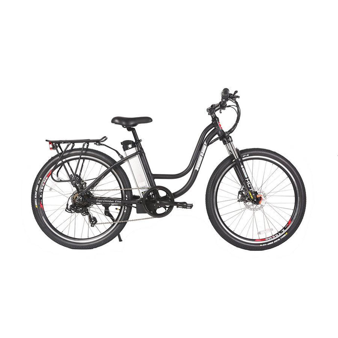 Electric Bike - X-Treme Trail Climber Elite Step Through Electric Bicycle - 24 Volt - BLACK