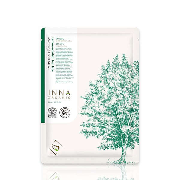 Inna Organic Lemon-scented Tea Tree Mattifying Facial Mask - ECOLONE Beauty