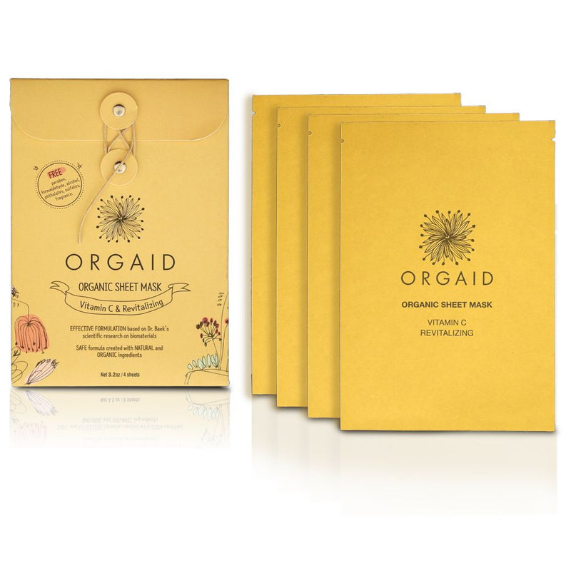 ORGAID Vitamin C & Revitalizing Sheet Mask Box (pack of 4) - ECOLONE Beauty
