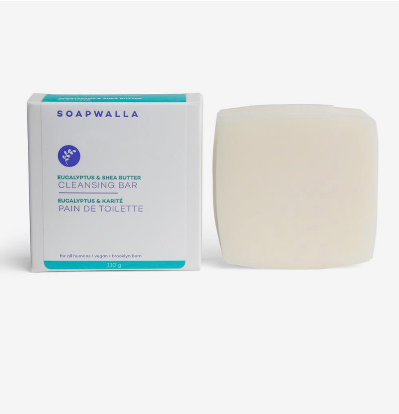 Soapwalla Eucalyptus & Shea Butter Cleansing Bar - ECOLONE Beauty